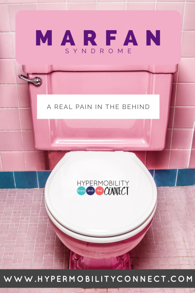 rectal prolapse: picture of a toilet in pink bathroom